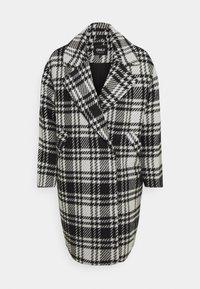 ONLY - ONLDAJANA CHECK COAT - Abrigo clásico - black/white - 4