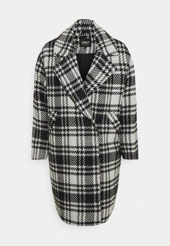ONLDAJANA CHECK COAT - Classic coat - black/white