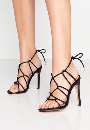 SAVY - Sandaler med høye hæler - black