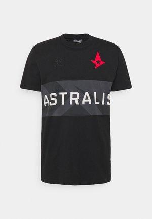 ASTRALIS - Print T-shirt - black