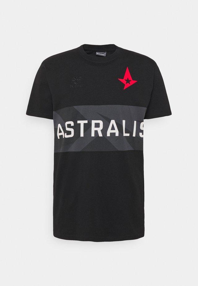 ASTRALIS - T-shirt con stampa - black