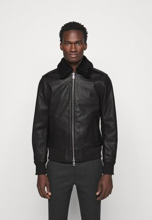 TARREL JACKET - Lederjacke - black