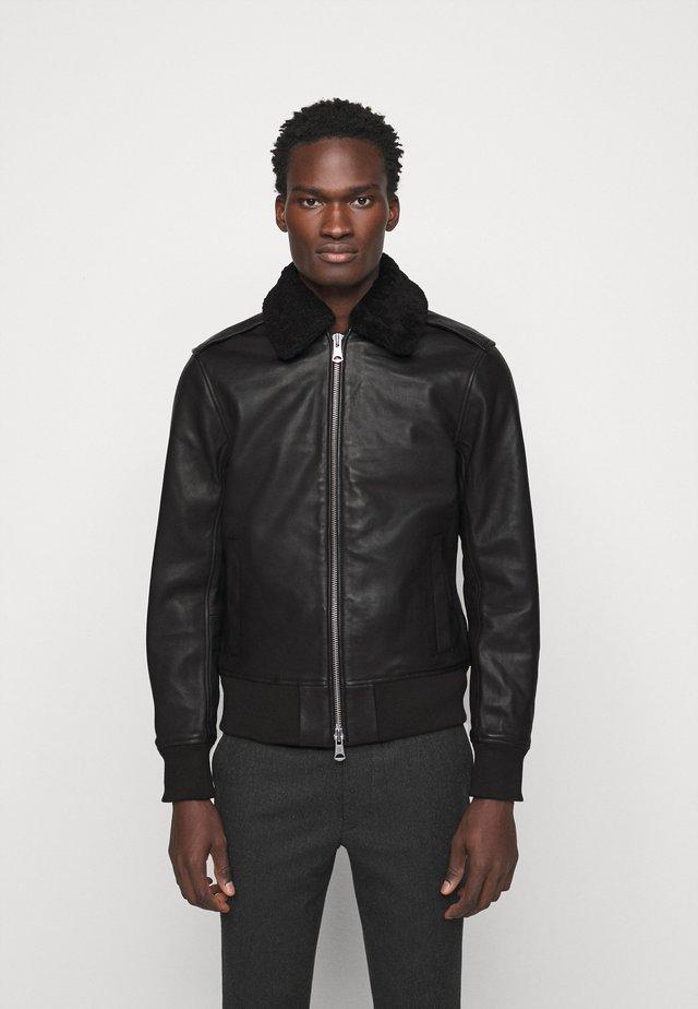 TARREL JACKET - Veste en cuir - black