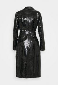 Missguided - CROC BELTED MAXI - Trenčkot - black - 1