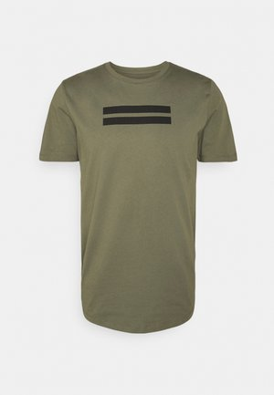 JCOBORU TEE CREW NECK - T-shirts med print - dusty olive