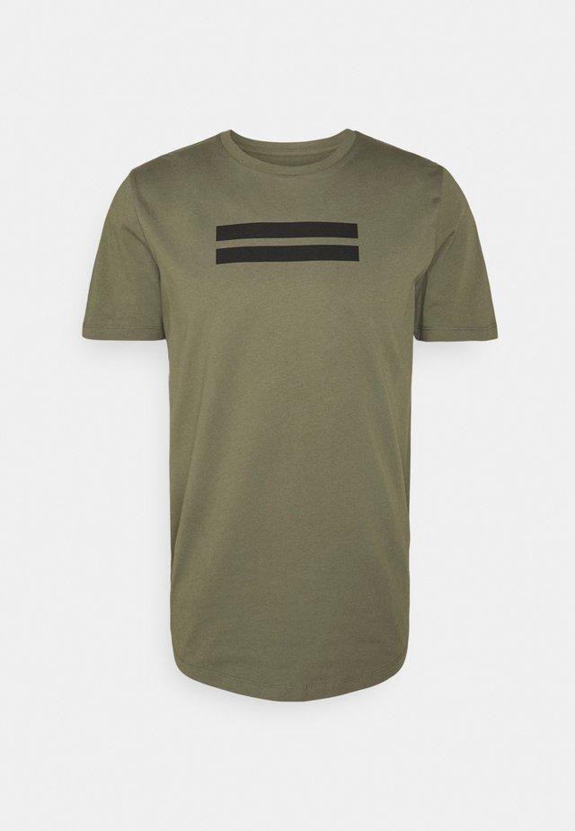 JCOBORU TEE CREW NECK - T-shirt print - dusty olive