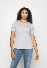CAPSULE by Simply Be - 3 PACK - T-shirts - black/white/grey - 3