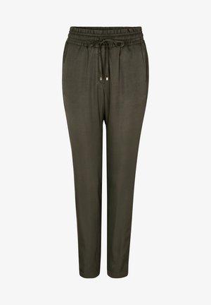 Trousers - dark khaki green