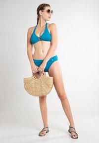 MICHAEL Michael Kors - ICONIC SOLIDS BIKINI BOTTOM - Bikini bottoms - lux teal - 1