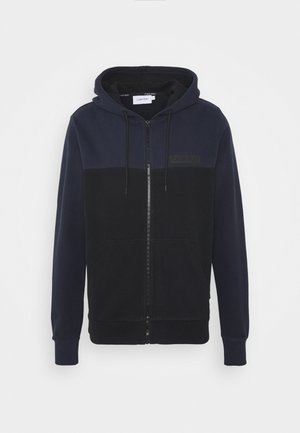 COLOR BLOCK ZIP THROUGH HOODIE - Sweatjakke /Træningstrøjer - blue