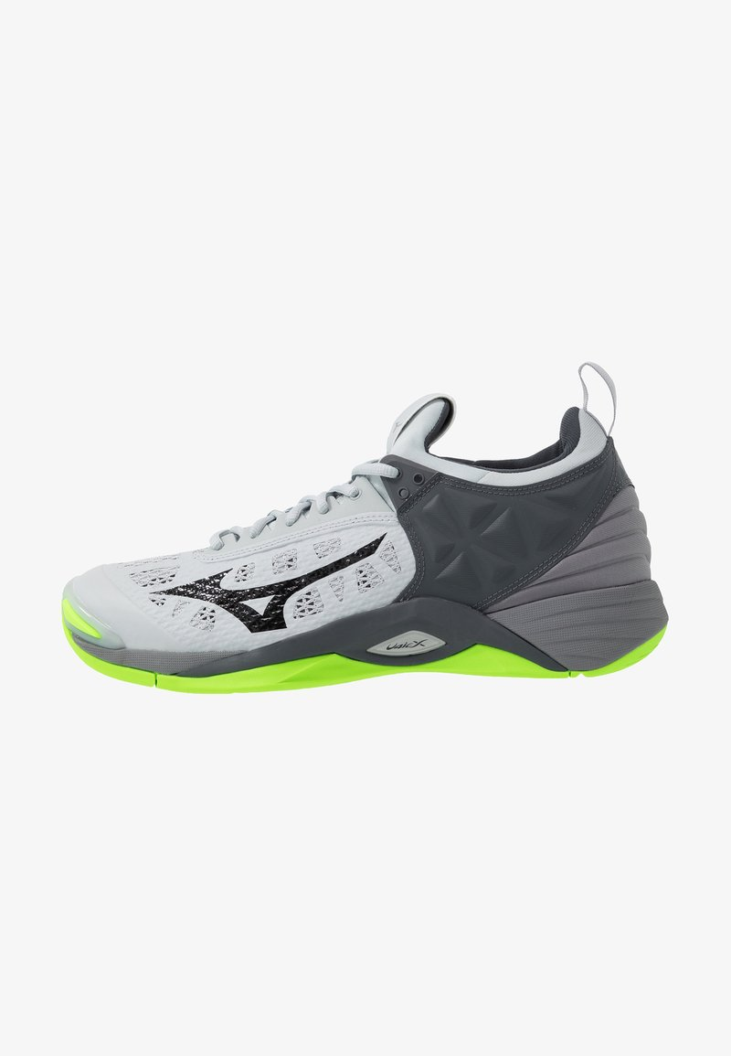 Mizuno - WAVE MOMENTUM - Volleyballsko - high rise/black/green gecko