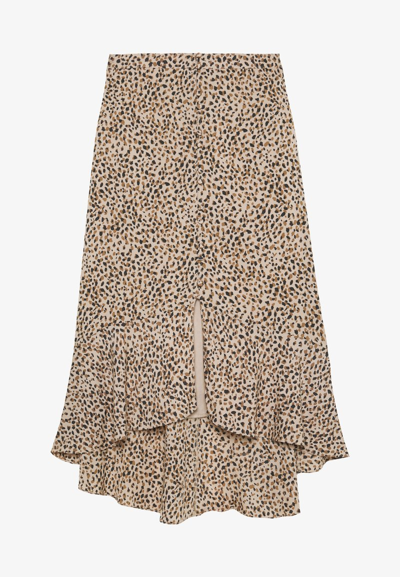 Abercrombie & Fitch - RUFFLE WRAP MIDI  - A-line skirt - light brown