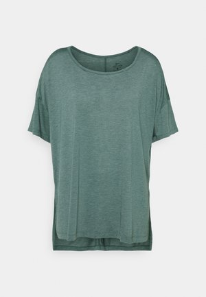 YOGA LAYER PLUS - T-Shirt basic - light pumice/dark teal green