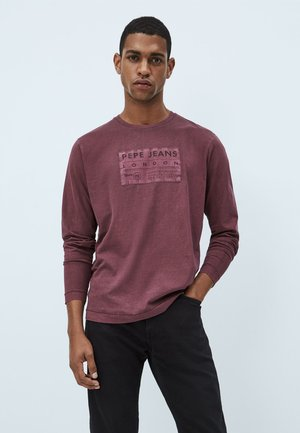 T-shirt à manches longues - wine