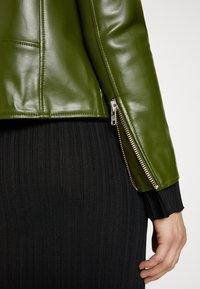 Deadwood - RIVER VEGAN CACTUS LEATHER JACKET - Faux leather jacket - green - 6