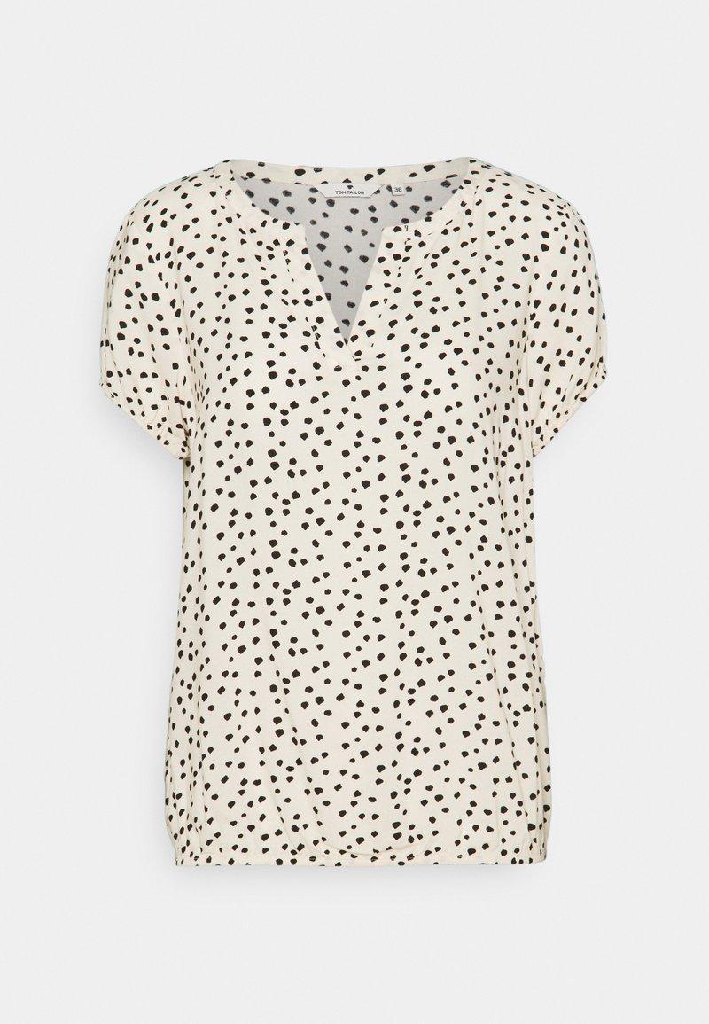 TOM TAILOR - Bluser - creme leo dot print