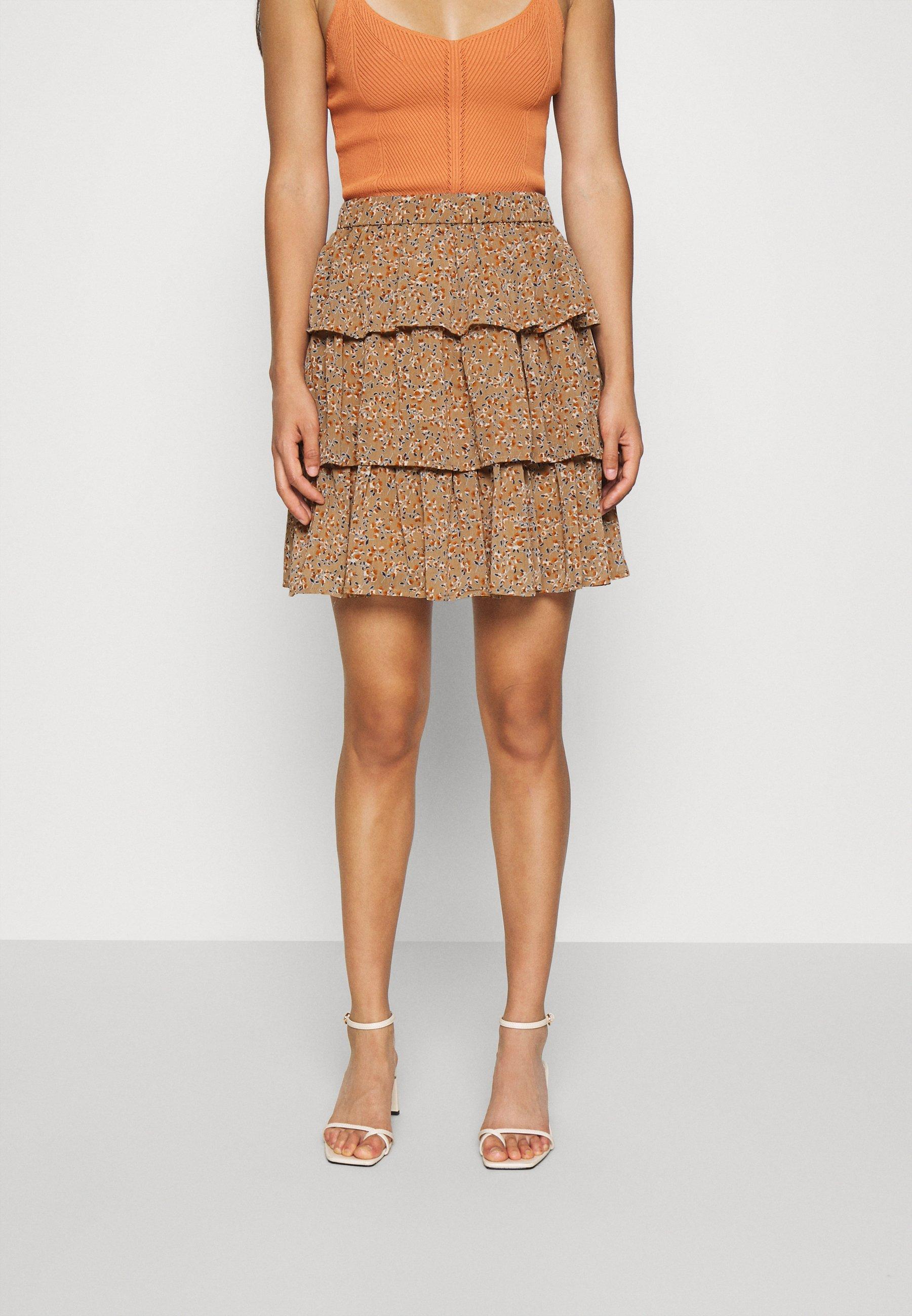 Women YASANEMONE SKIRT  - A-line skirt - tawny brown/anemone