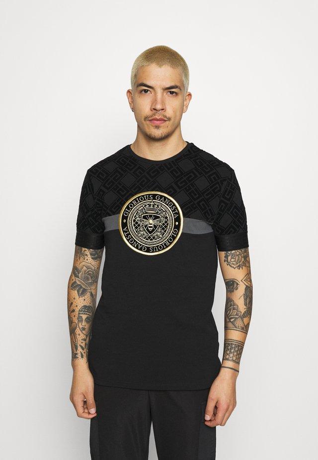 ARMAZ TEE - T-shirt con stampa - jet black