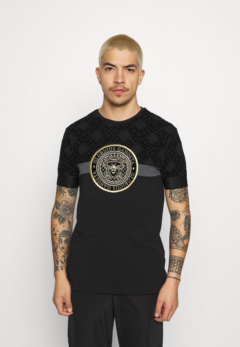 Glorious Gangsta - ARMAZ TEE - Print T-shirt - jet black