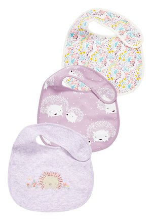 3 PACK HEDGEHOG BIBS - Bib - purple