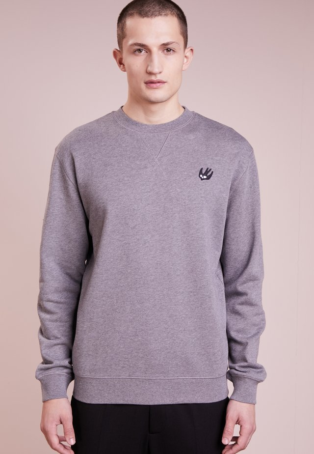 COVERLOCK - Sweater - stone gray melange