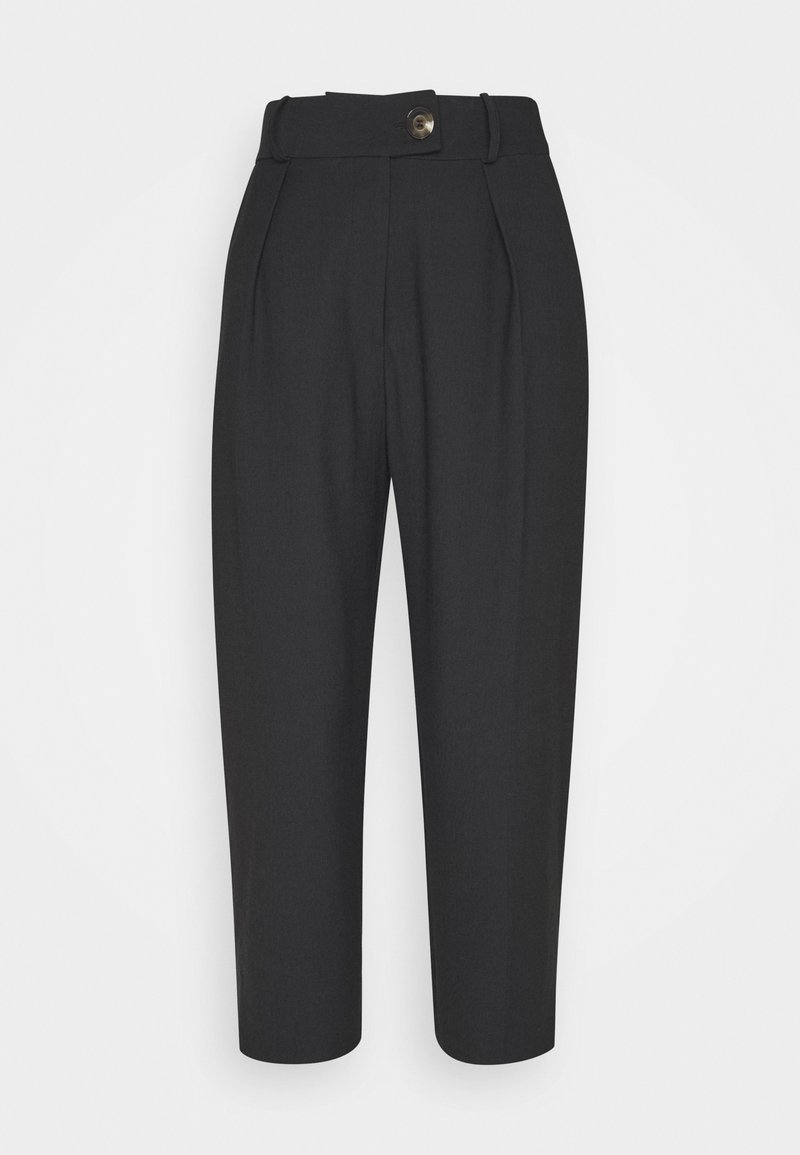 Topshop Petite - TILLY TROUSER - Stoffhose - washed black