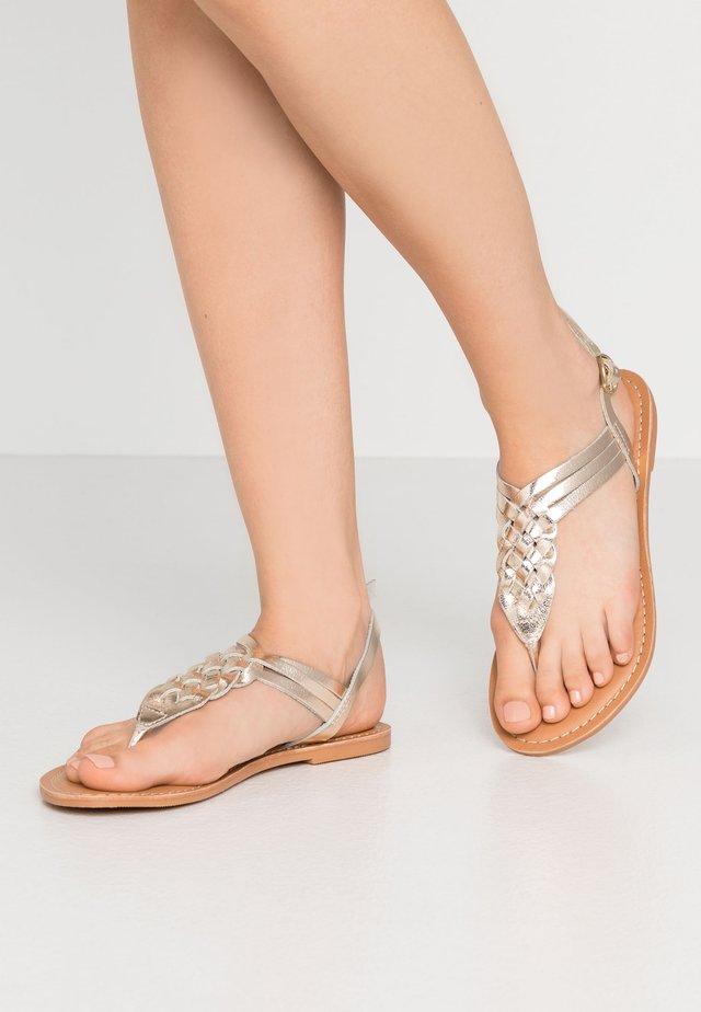 JEMMA - T-bar sandals - gold