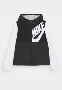 Nike Sportswear - HOODIE KIDS - veste en sweat zippée - black/white/black heather - 0