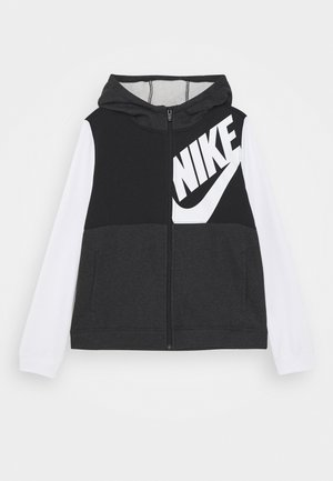 HOODIE KIDS - veste en sweat zippée - black/white/black heather