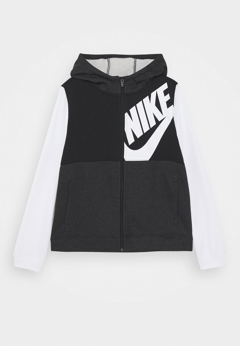 Nike Sportswear - HOODIE KIDS - veste en sweat zippée - black/white/black heather