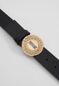 Versace Jeans Couture - CIRCLE LOGO BELT - Riem - black - 5