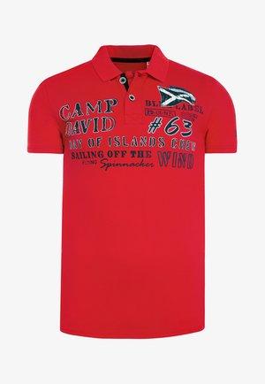 MIT PRINTS UND STICKEREIEN - Polo shirt - speed red