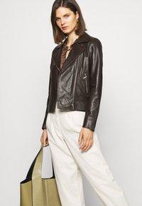 Oakwood - MARJORY - Leather jacket - dark brown - 4
