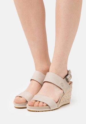 CAPRI SUNSET WEDGE - Sandaletter med kilklack - light beige