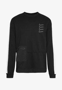 Nike Performance - M NK DRY TOP FLEECE PX - Sweatshirt - black/white - 6