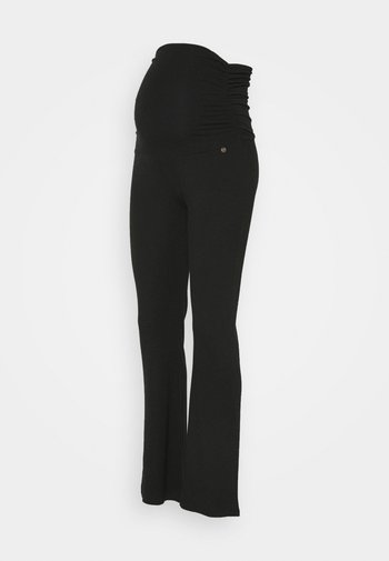 PANTS FLARED - Leggings - Trousers - anthracite
