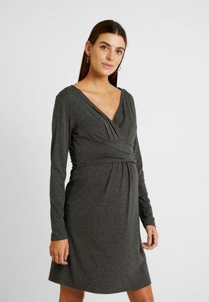 DRESS HANNA - Žerzejové šaty - grey melange