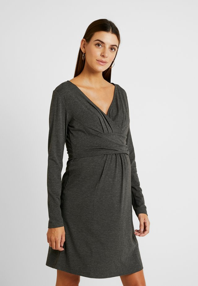 DRESS HANNA - Trikoomekko - grey melange