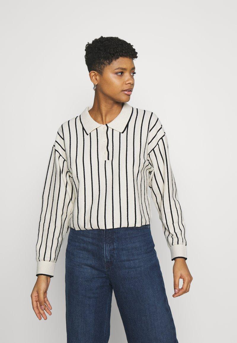 Weekday - HELGA - Jumper - white/ black stripe