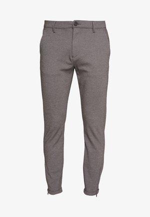 Chino kalhoty - light grey melange