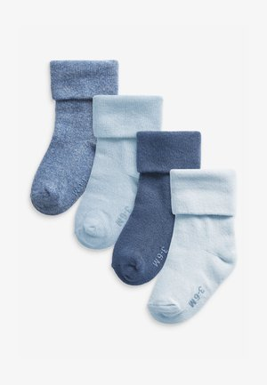 4 PACK ROLL TOP  - Socks - blue