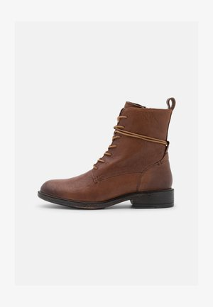 CATRIA - Lace-up ankle boots - brown
