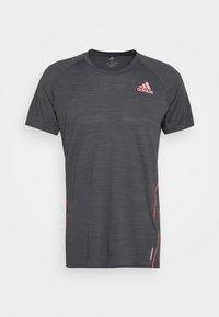 adidas Performance - ADI RUNNER TEE - Print T-shirt - dark grey solar grey - 4