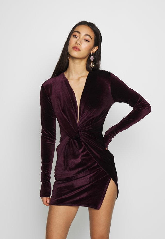 TWIST FRONT MINI DRESS - Cocktail dress / Party dress - purple