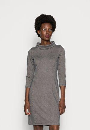 DRESS MOCK NECK - Jumper dress - navy beige