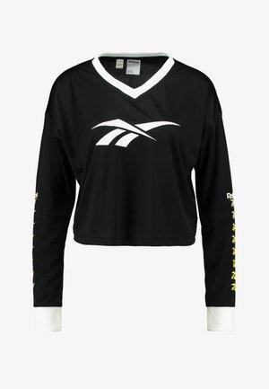 CROPPED LONGLSEEVE - Langærmede T-shirts - black