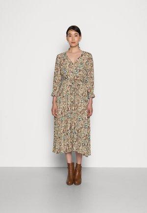 DRESS LONG - Day dress - powder creme multi