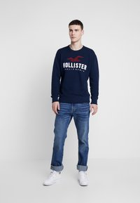 Hollister Co. - TECH LOGO CREW - Mikina - navy - 1