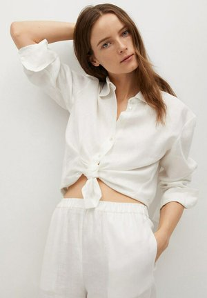 Button-down blouse - crudo