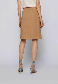 BOSS - A-line skirt - beige - 2